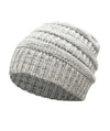 Made Terra Wool Hat Grey- White WB / Set of 1 Beanie for Women and Men - Warm&Soft Winter Acrylic Patterned Knit Skull Cap