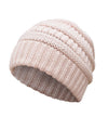 Made Terra Wool Hat Pink WB / Set of 1 Beanie for Women and Men - Warm&Soft Winter Acrylic Patterned Knit Skull Cap