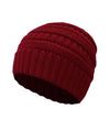 Made Terra Wool Hat Red WB / Set of 1 Beanie for Women and Men - Warm&Soft Winter Acrylic Patterned Knit Skull Cap