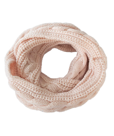Made Terra Wool Scarf Pink WBS Winter Infinity Circle Loop Scarf |  Thick Ribbed Knit Wrap for Women and Men