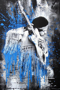 Mr Brainwash - Jimi (Blue) (2015)