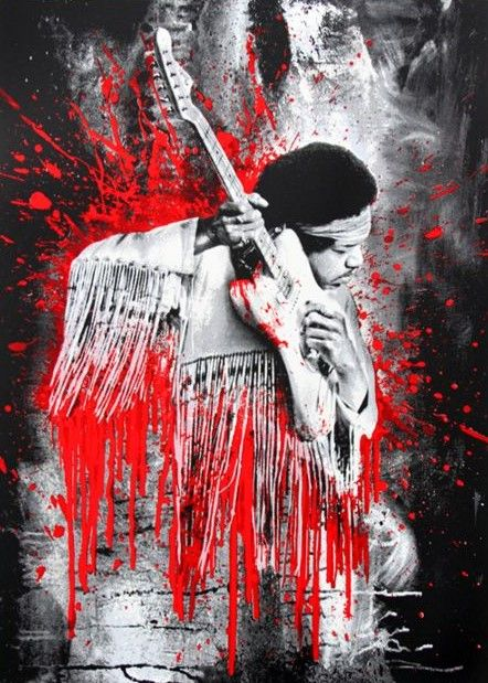 Mr Brainwash - Jimi (Red) (2015)