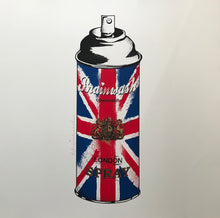 Load image into Gallery viewer, Mr Brainwash - Spray Can (Union Jack)