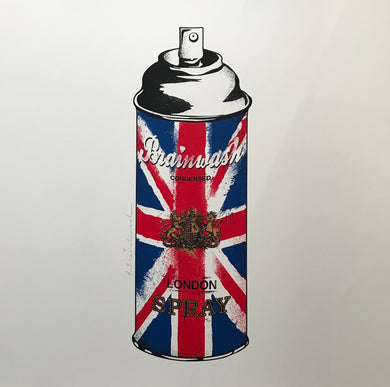 Mr Brainwash - Spray Can (Union Jack)