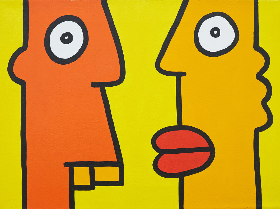 Thierry Noir - You And Me At The Bus Stop. We Have Time Today (2013)