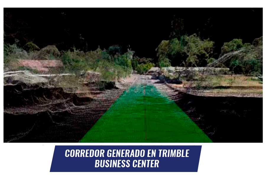 Corredor generado en Trimble Business Center