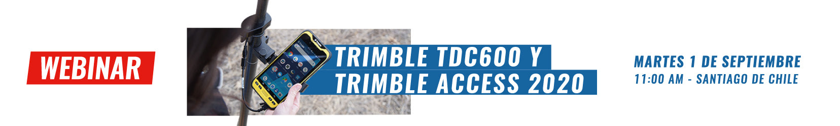 Webinar | Trimbble TDC600 y Trimble Access 2020