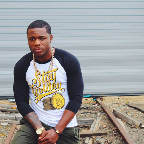 """Stay Golden"" 3/4 Sleeve Raglan"