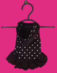Polka Dot Hooded Dog Dress