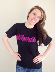 Fetch Glitter logo T