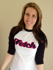 Fetch Glitter baseball T
