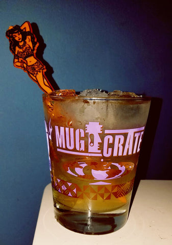 """MugCrate"" Launch Mai Tai glass -Purple And Brown"