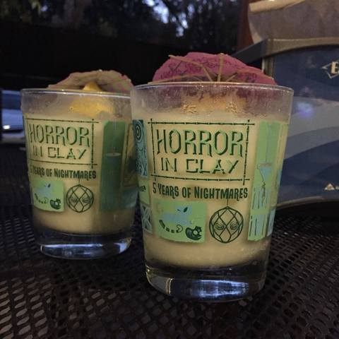 5 year Anniversary Horror In Clay Mai Tai Glass