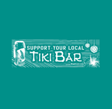 Support Your Local Tiki Bar Shirt - Teal