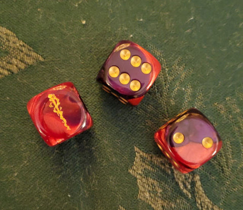 """Yellow SIgn"" Dice (6)"