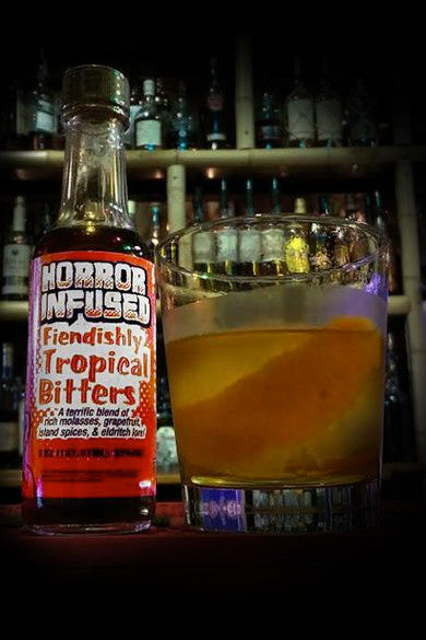 Horror Infused: Fiendishly Tropical Bitters 5 oz dasher bottle- Transform your cocktail!