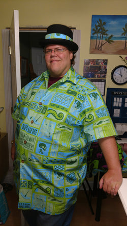 Custom Tropical Horror Tapa Print shirt 1 (Lovecraft Poe Hawaiian shirt)