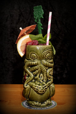 Horror In Clay Cthulhu Tiki Mug, Series 1 open edition - olive green