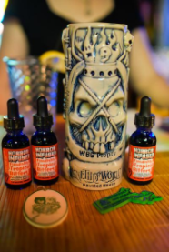 Horror Infused: Fiendishly Tropical Bitters 1oz dropper bottle- Transform your cocktail!