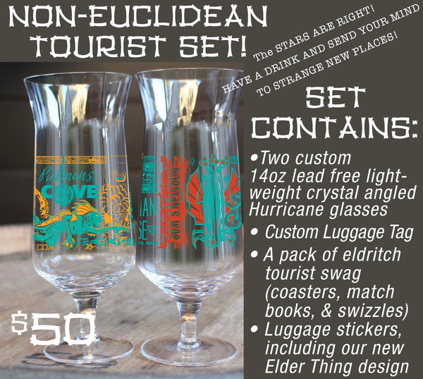 Non-Euclidean Hurricane Glass Tourist Twin-Set