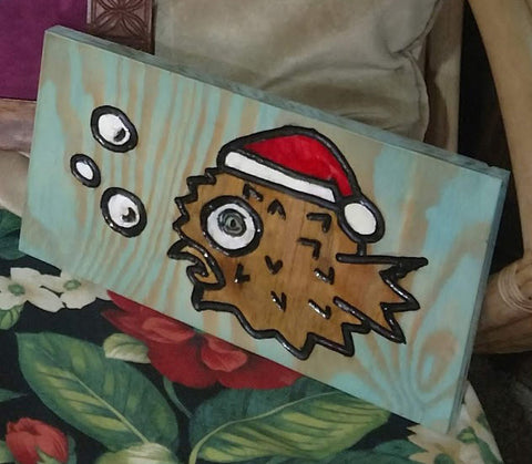 "Carving - ""Santa Blowfish 1"""