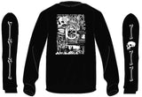"Dark Lantern ""Spirits of the Dead"" long sleeve shirt- GLOW IN THE DARK black"