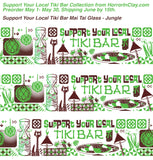 """Support Your Local Tiki Bar"" Mai Tai glass - jungle"