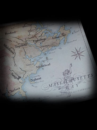 Open Edition  - Lovecraft Country map of New England featuring Innsmouth and Y'ha-nthlei