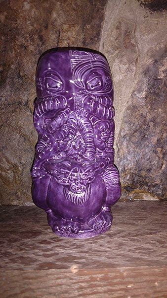 Horror In Clay Cthulhu Tiki Mug, Series 2 limited edition - hot purple