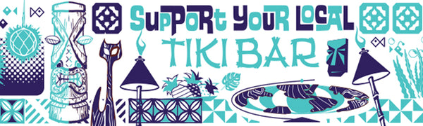 """Support Your Local Tiki Bar"" Bumper sticker"