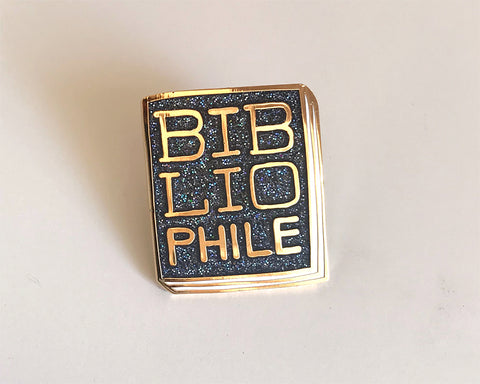 Book Pin: Bibliophile B