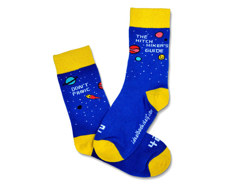 Book Socks: Hitchhikers Guide to the Galaxy