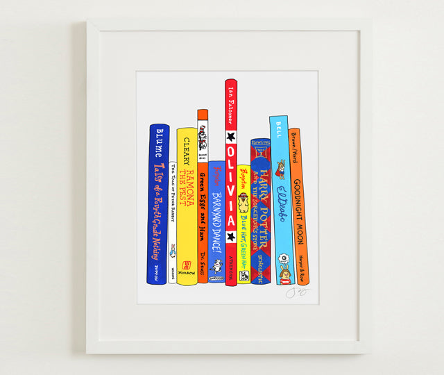 a CUSTOM print of YOUR books