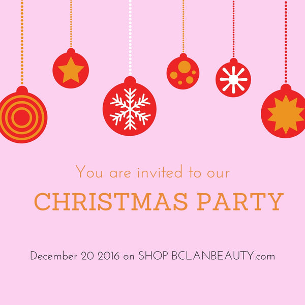 Save The Date Christmas Party 2016 Bclanbeauty