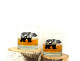 Bear and Wolf Whiskey Glasses