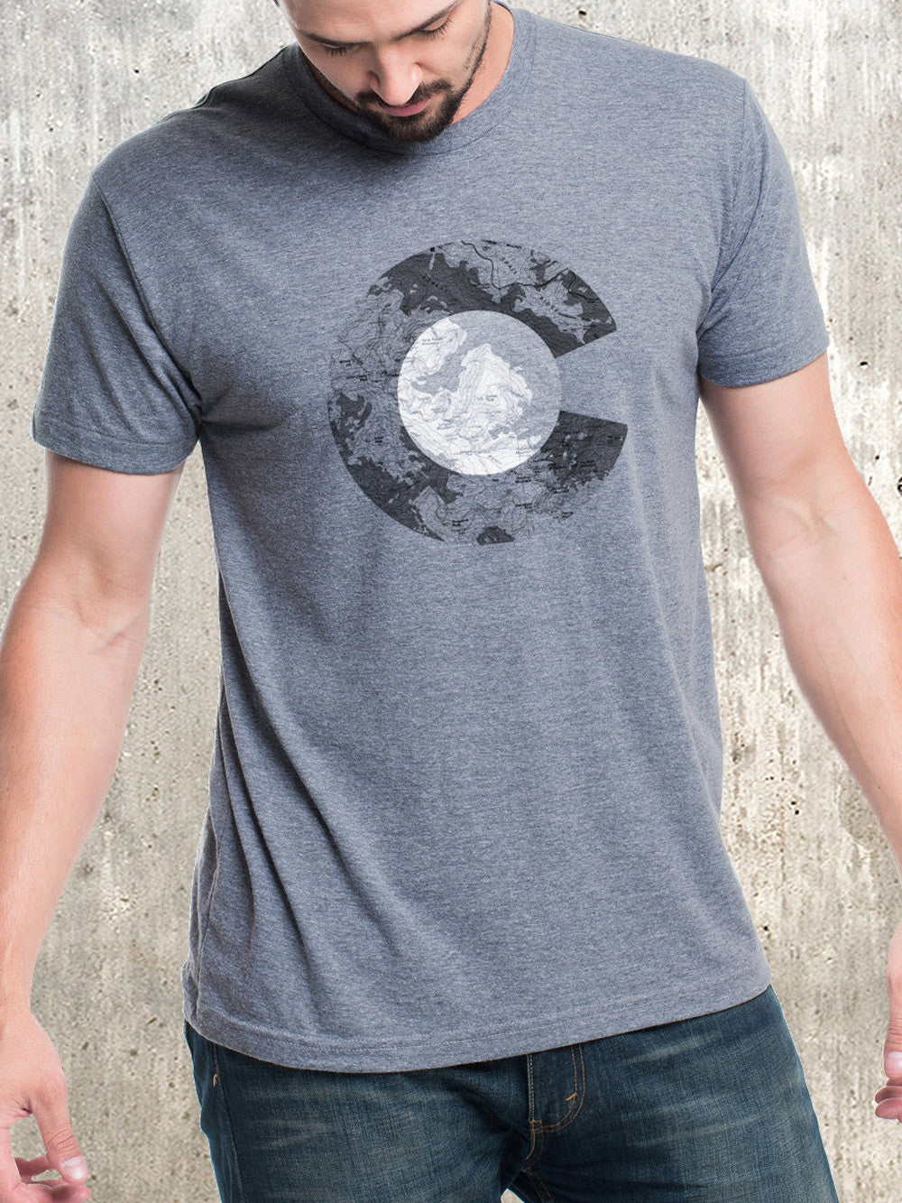 Topographic Colorado Men S Triblend T Shirt