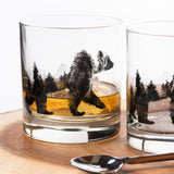 Double Exposure Bear Whiskey Glasses