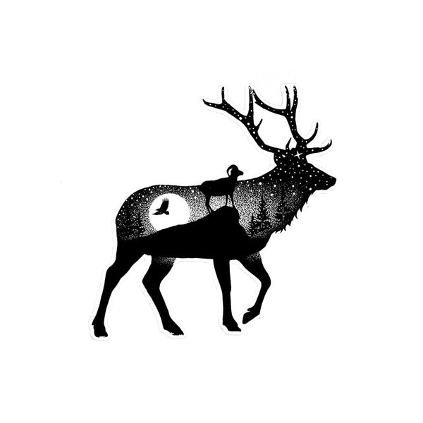 Elk Vinyl Decal - Die Cut Sticker