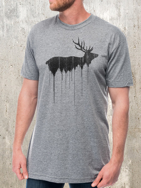 Men's Elk and Forest T-Shirt