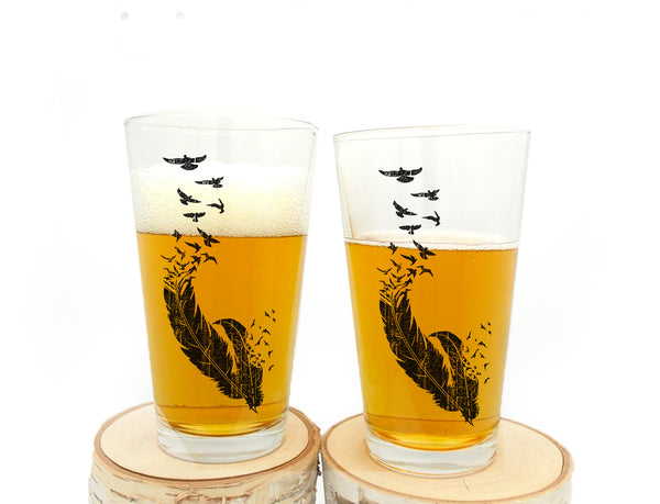 Bird Pint Glasses