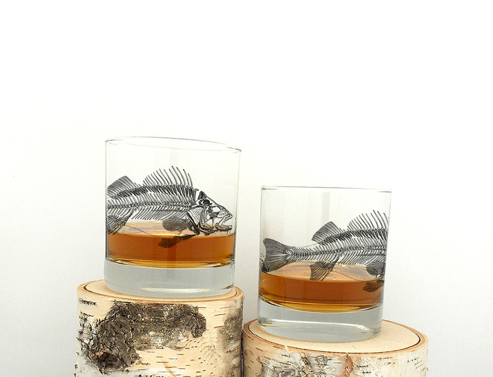 Fish Skeleton Whiskey Glass