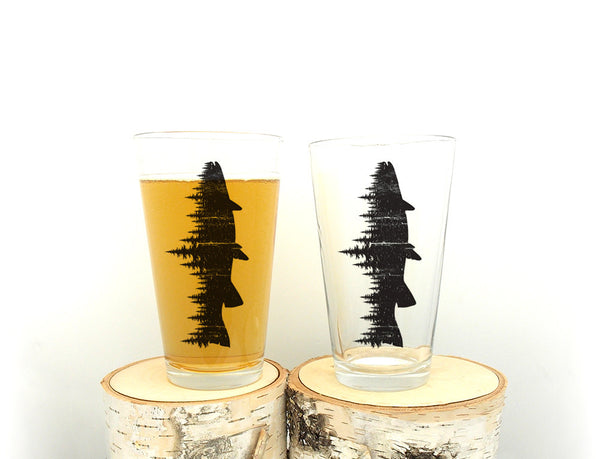 Fish and Forest Pint Glasses