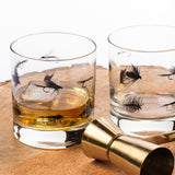 Fly Fishing Flies Whiskey Glasses