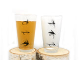 Fly Fishing Pint Glass Set