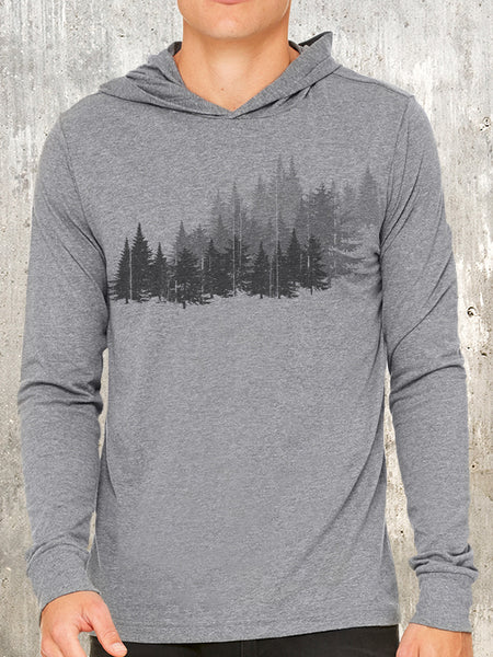 Forest Layers Men's Pullover Hoodie