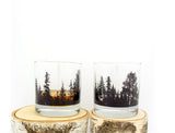 Forest Landscape Rock Glasses
