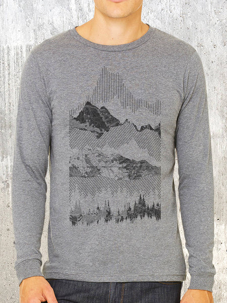 Geometric Mountain Range Long Sleeve Shirt