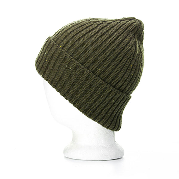 Men's Merino Wool Beanie with Woven Label