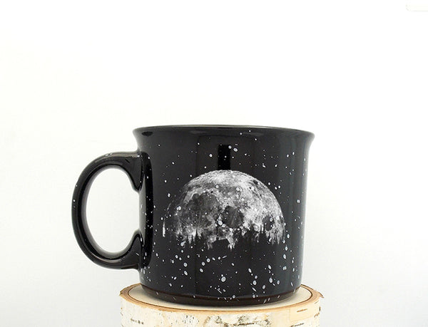 Moon and Cabin Campfire Mug