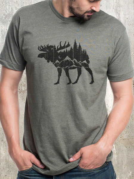 Moose and Mountain T-Shirt